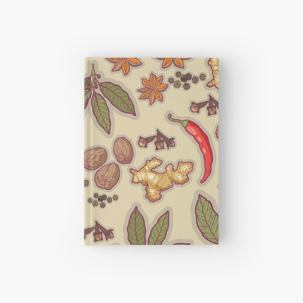 warming spices Hardcover Journal