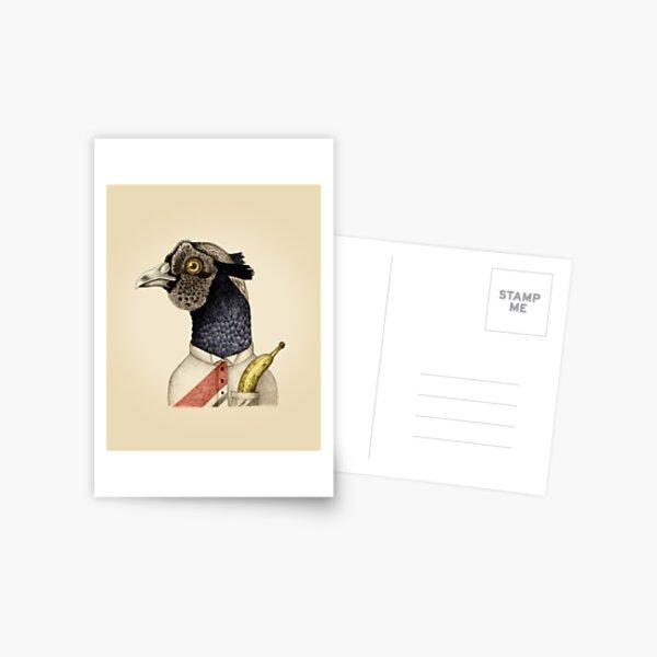 trendy guy pheasant with banana Postcard