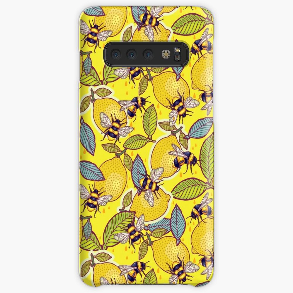Yellow lemon and bee garden. Case & Skin for Samsung Galaxy