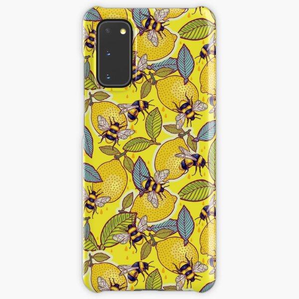 Yellow lemon and bee garden. Samsung Galaxy Snap Case