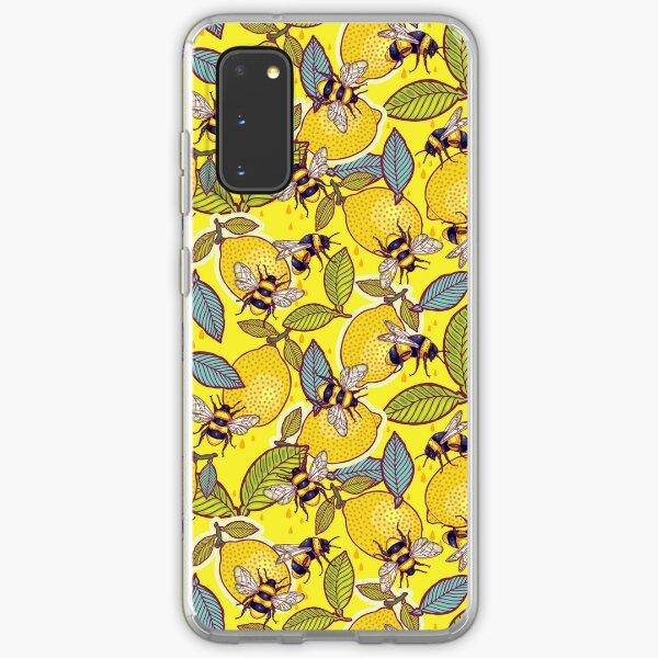 Garten mit gelber Zitrone und Biene. Samsung Galaxy Flexible Hülle