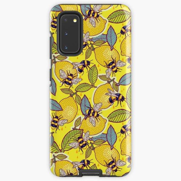 Yellow lemon and bee garden. Samsung Galaxy Tough Case