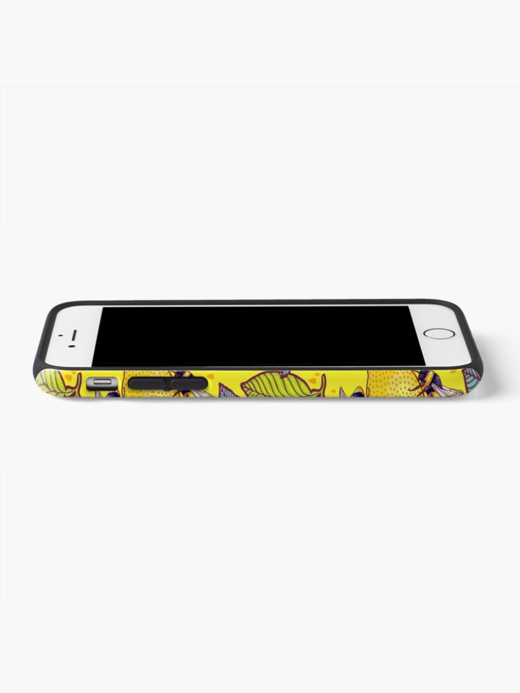 Alternate view of Yellow lemon and bee garden. iPhone Case & Cover