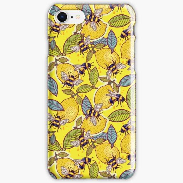 Yellow lemon and bee garden. iPhone Snap Case