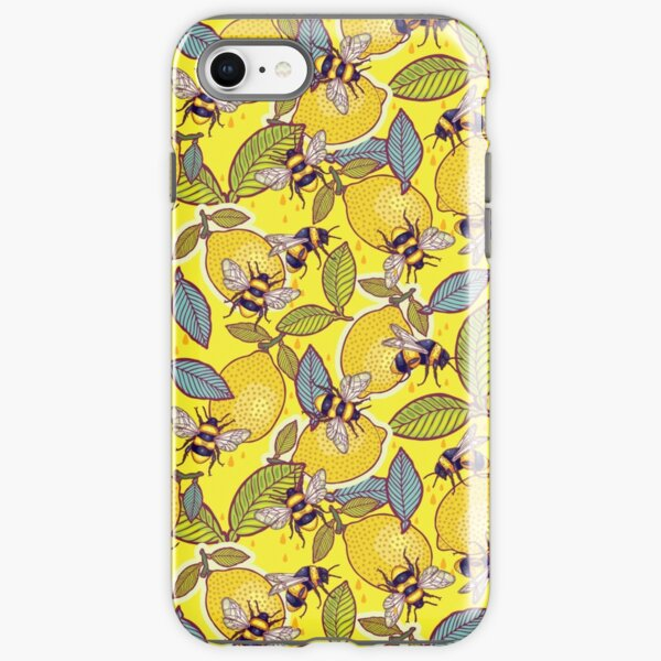 Yellow lemon and bee garden. iPhone Tough Case