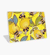 Yellow lemon and bee garden. Laptop Skin