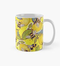 Yellow lemon and bee garden. Mug