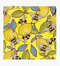 Lámina fotográfica Amarillo limón y jardín de abejas.