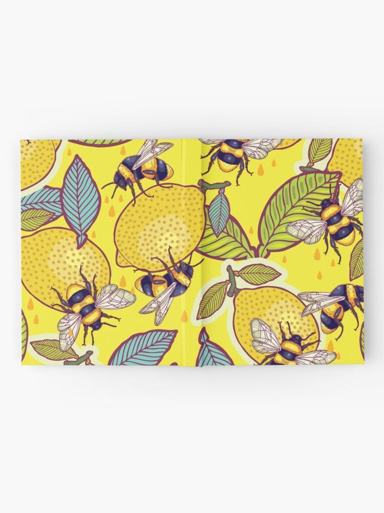 Alternate view of Yellow lemon and bee garden. Hardcover Journal