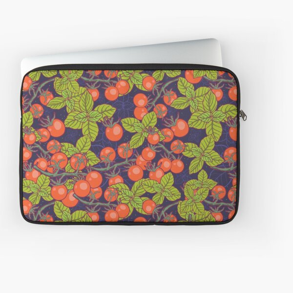 mysterious night in space garden with cherry tomatoes and basil Laptop Sleeve