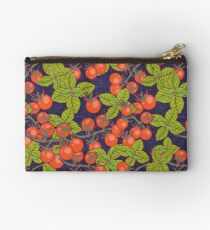 mysterious night in space garden with cherry tomatoes and basil Studio Pouch