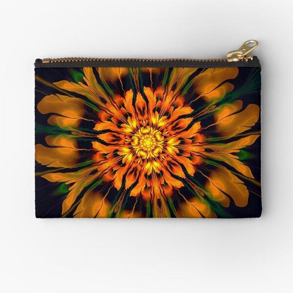 Flower Power Kaleidoscope Zipper Pouch