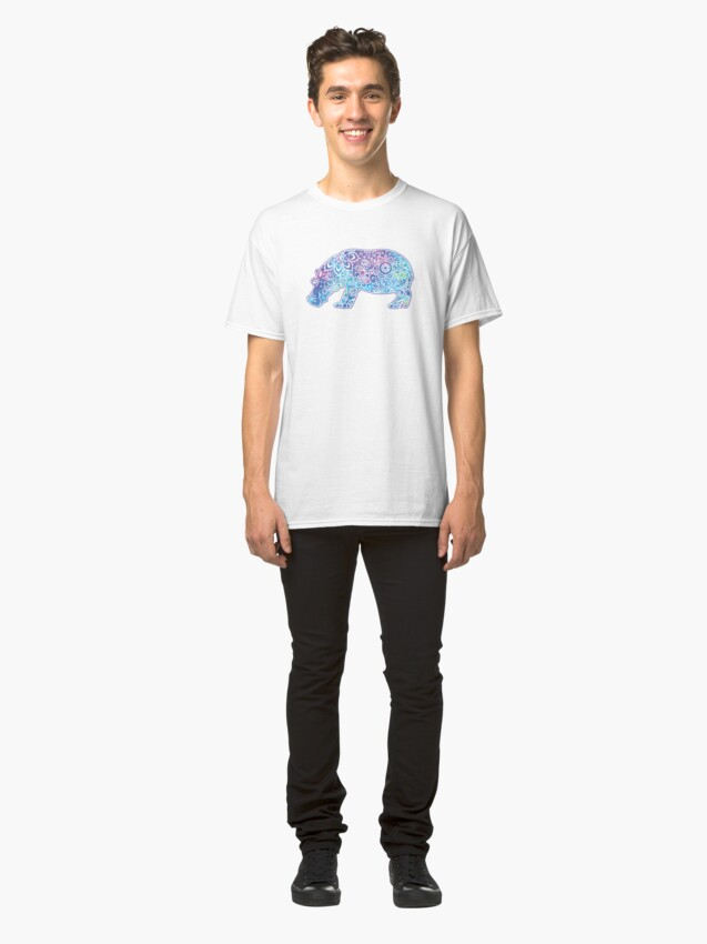 Alternate view of Psychedelic Hippo // Hippy Hippo Classic T-Shirt