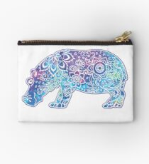Psychedelic Hippo // Hippy Hippo Studio Pouch