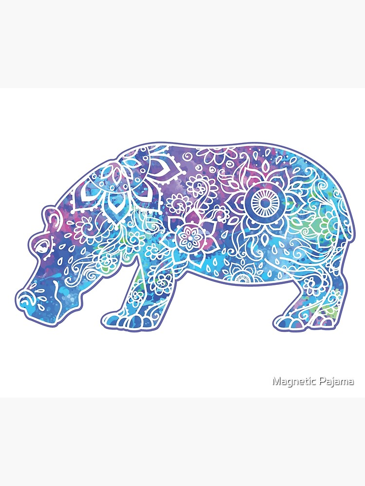 Psychedelic Hippo // Hippy Hippo by MagneticMama