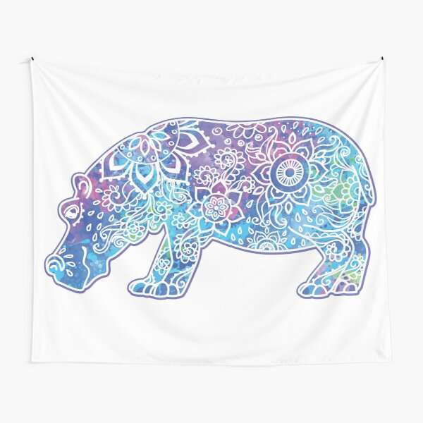 Psychedelic Hippo // Hippy Hippo Tapestry