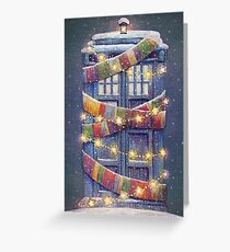 Christmas Police Box Greeting Card