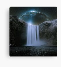 Milkyway Arch over Raging Waterfall by Adam Asar 3 Canvas Print