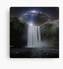 Milkyway Arch over Raging Waterfall by Adam Asar 3aa Canvas Print