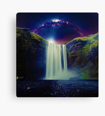 Milkyway Arch over Raging Waterfall by Adam Asar Canvas Print