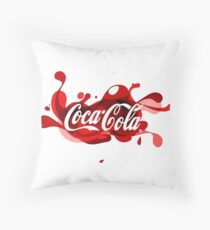 Coca-Cola Splash Logo Throw Pillow