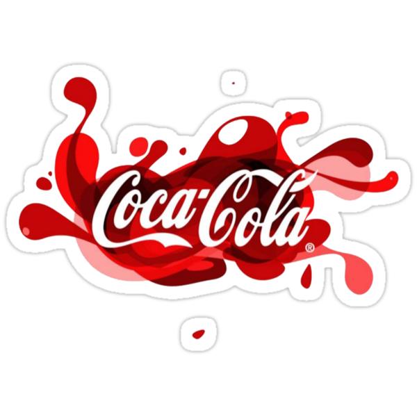 coca cola splash logo stickers by yellowteacups redbubble