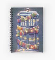 Christmas Police Box Spiral Notebook