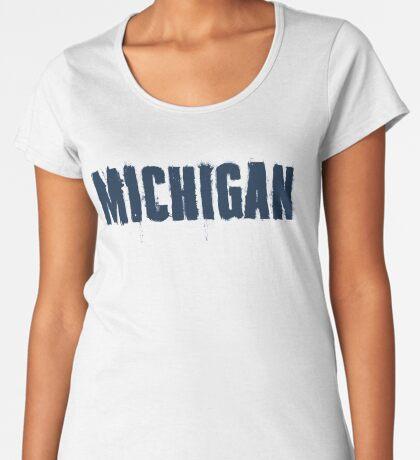 Michigan Trash Letters Premium Scoop T-Shirt
