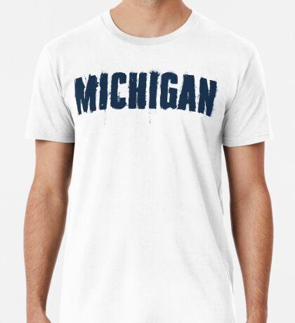 Michigan Trash Letters Premium T-Shirt