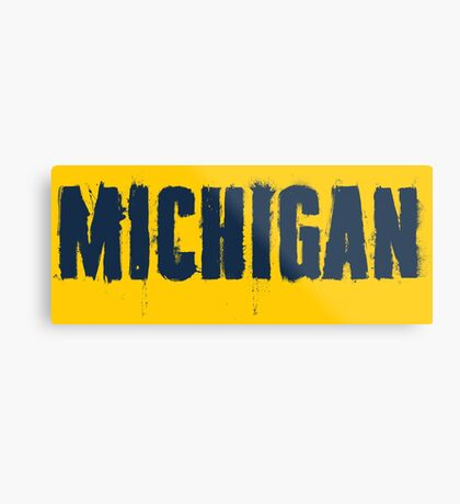 Michigan Trash Letters Metal Print