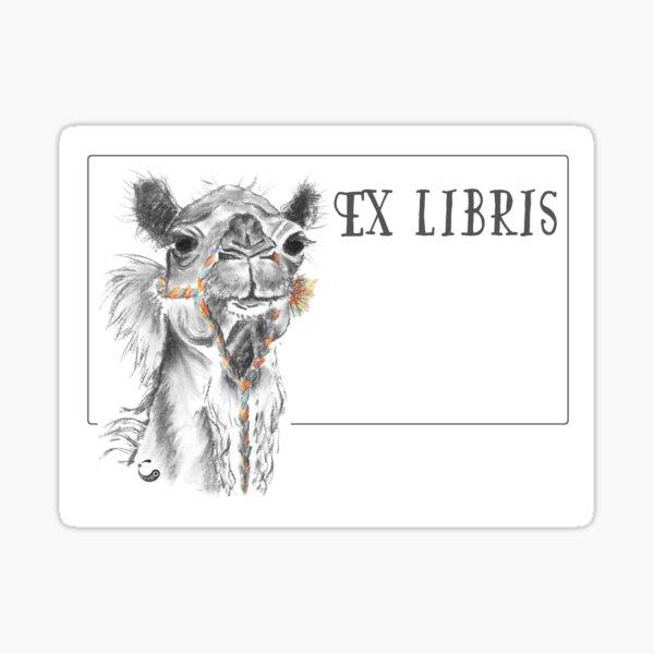 Dromedary (ExLibris) - Charcoal Animals Sticker