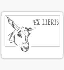 Donkey (ExLibris) - Charcoal Animals Sticker