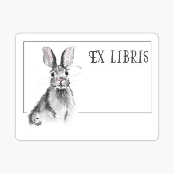 Rabbit Bunny (ExLibris) (Charcoal Animals) Sticker