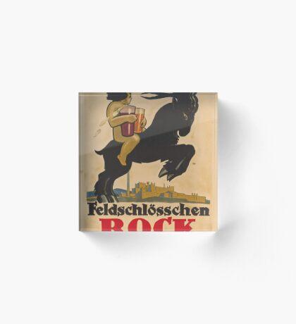 Germany Beer Boch Vintage Travel Advertisement Art Poster Acrylic Block