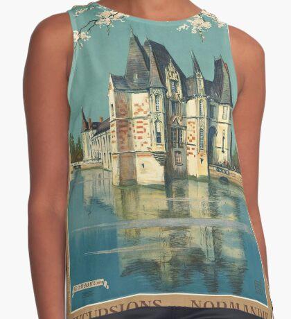 Normandy France Vintage Travel Advertisement Art Poster Sleeveless Top
