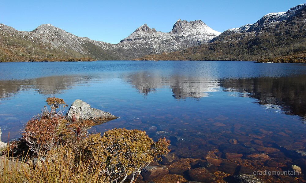 Reflections in Lake Dove Cradle Mountain 2008 by cradlemountain