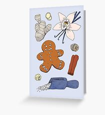 What's in my gingerbread man Greeting Card