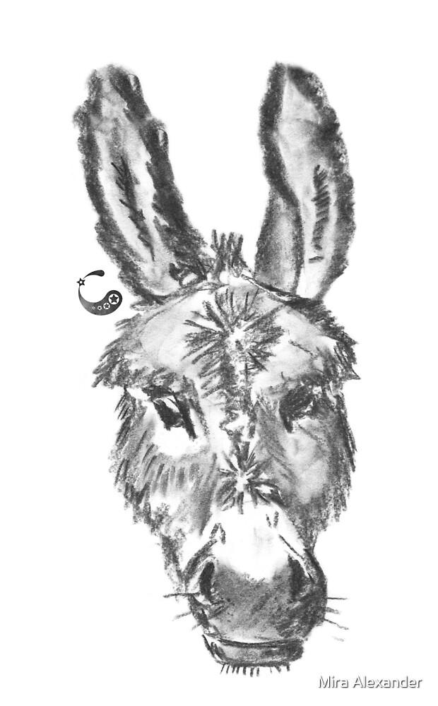 Mule (sticker) - Charcoal Animals by Mira Alexander