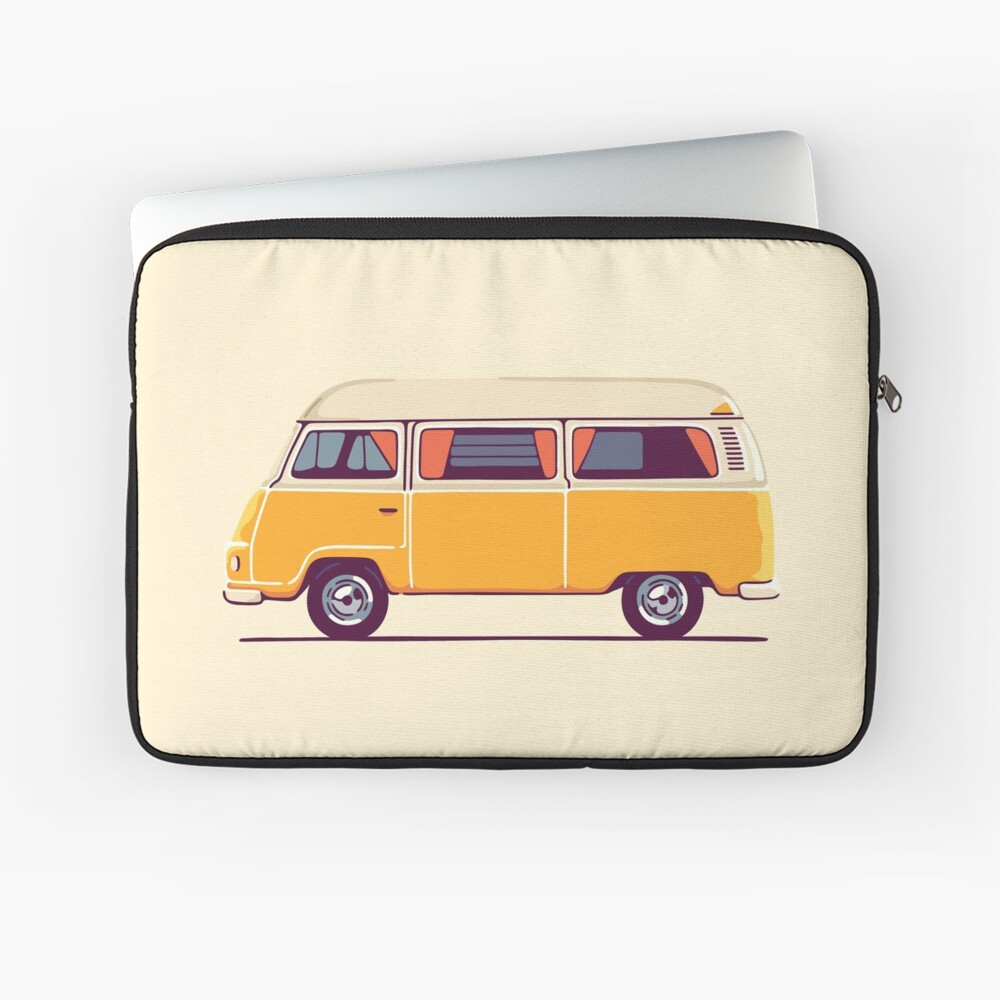 Vintage Hippie Camping Van Laptoptasche