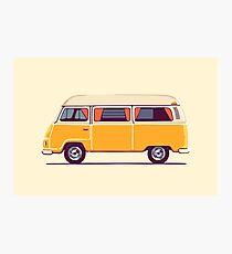 Vintage Hippie Camping Van  Photographic Print