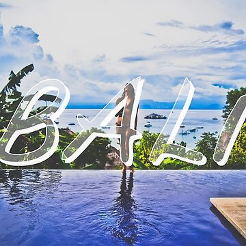 Bali Typography Print by AndAndy