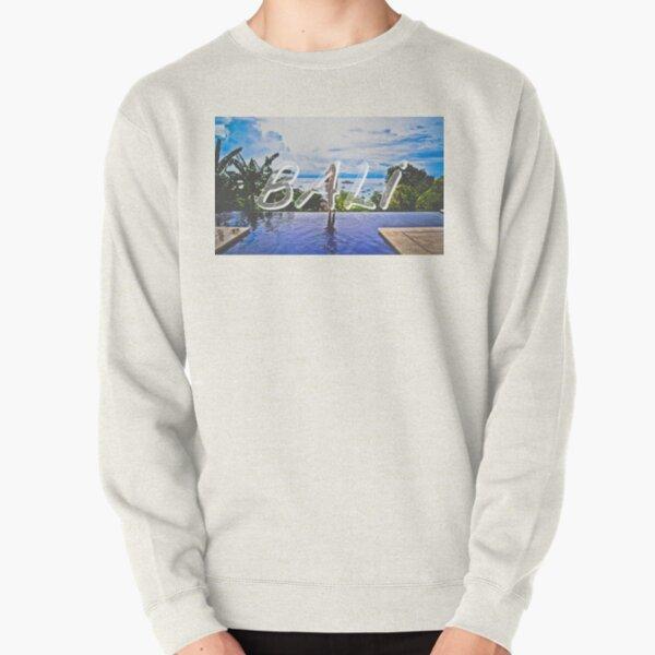 Bali Typography Print Pullover Sweatshirt