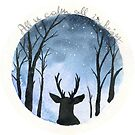 Winter Stag by Justine Lombardi