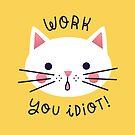 Procrastination Cat by Susann Hoffmann