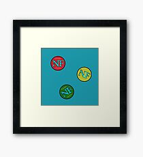 Red Yellow Green - NF HIPHOP Framed Print