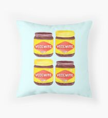 Vegemite Jars Throw Pillow