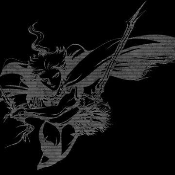 -FINAL FANTASY- Final Fantasy III B & W Logo by WubbaDubb