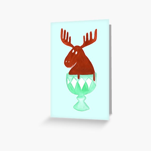 Chocolate Moose Greeting Card