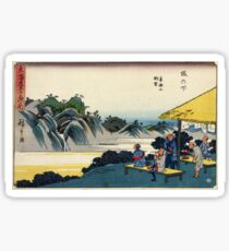 Sakanoshita - Hiroshige Ando - 1838 - woodcut Sticker