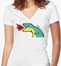 JDM Dino Women's Fitted V-Neck T-Shirt
